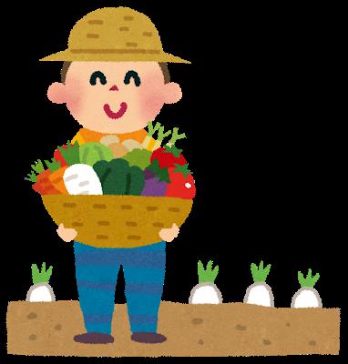 野菜を収穫したイラスト