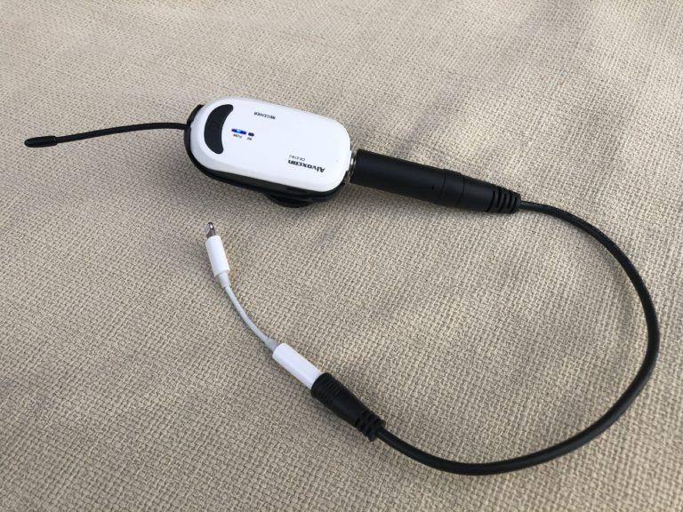 iphoneに接続する場合の接続